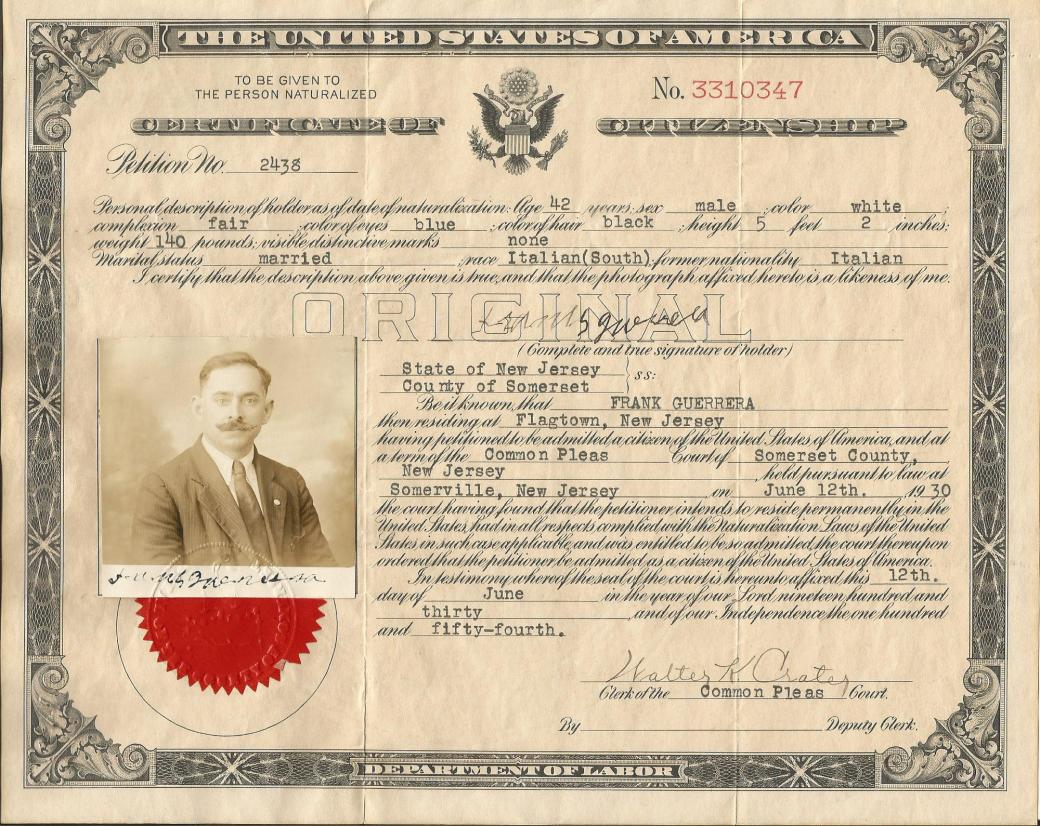 Citizenship Frank