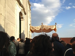Procession started from the front steps of Chiesa Madre del S.S. Salvatore.