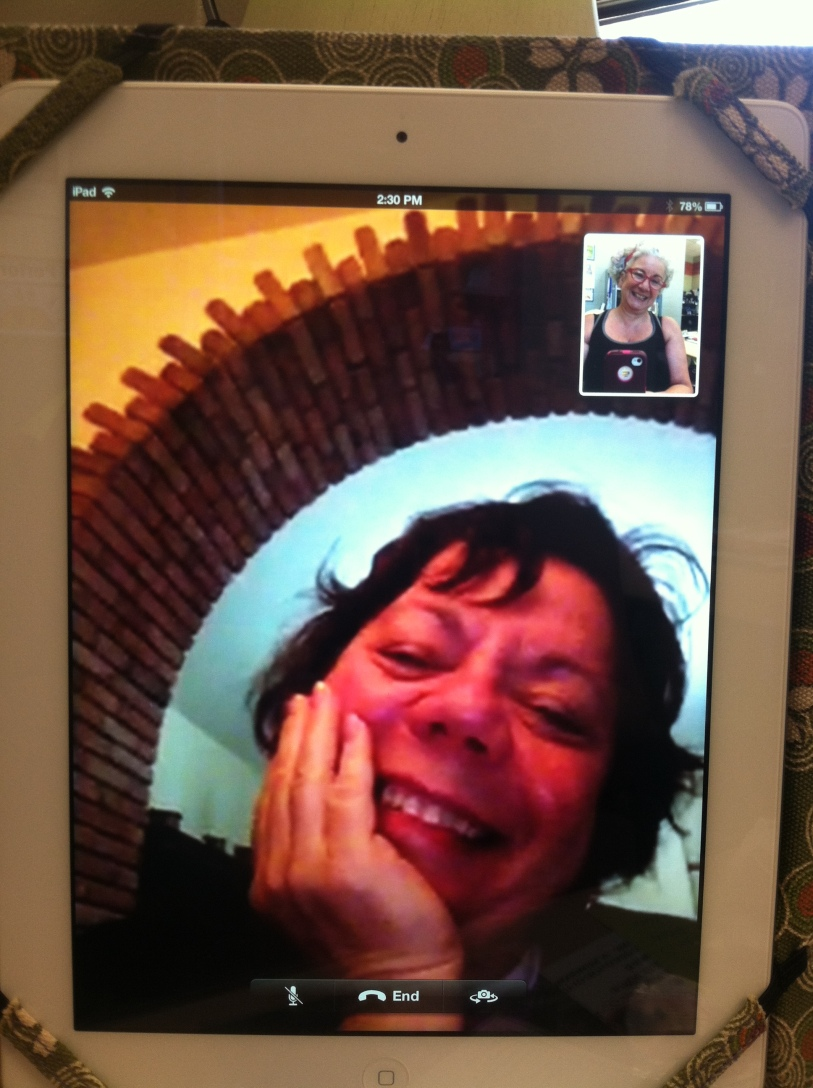 Janet and Midge do Facetime