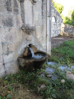 We all drank from the Roman Fountain.