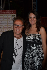 Young actress Giusy Mancini with famous comic Max Cavallari.  See - famous folks both nights! DEZPHOTO