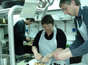 Note our Chef/teacher in the backgound  - cute too.